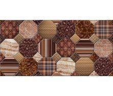 Плитка керамическая BELANI Фрезия Декор Антарес 50х25 см коричневая