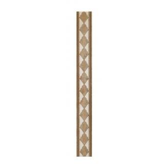 Плитка керамическая BELANI Фриз Флоренция 5,4х50 см коричнева