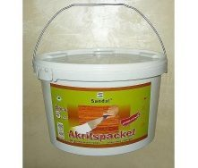 Шпаклівка столярна акрилова SANDAL Akrilspackel універсальна 5 кг