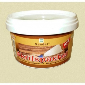 Шпаклівка столярна акрилова SANDAL Akrilspackel 0,4 кг дуб