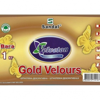 Шпаклевка декоративная SANDAL Gold Velure 1 кг