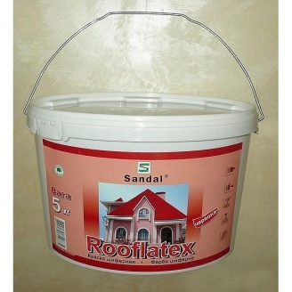 Краска для шифера SANDAL Rooflatex 5 кг красная