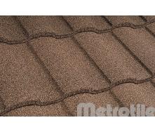 Композитная черепица Metrotile  MetroRoman  Coffee 1280х410 мм