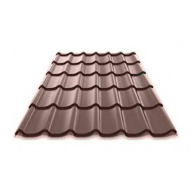 Металочерепиця MONTERREY 0,5х1195 мм шоколадно-коричневий (Arcelor Mittal)
