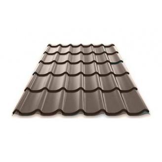 Металлочерепица MONTERREY 0,5х1195 мм темно-коричневый (Arcelor Mittal)