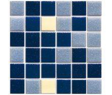 Мозаїка скляна Stella di Mare R-MOS B11243736 мікс синій на папері 327х327х4 мм
