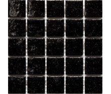 Мозаїка скляна Stella di Mare R-MOS B50 чорний на сітці 327х327х4 мм