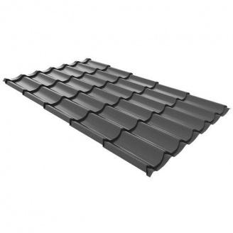 Металлочерепица Ruukki Monterrey Standard Polyestr 0,5 мм (#40443e)