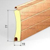 Ворота АЛЮТЕХ роллетная система AG/77Н SB45 (золотой дуб)