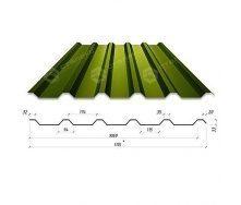 Профнастил Сталекс Н-33 1115/1060 мм 0,45 мм PEMA Корея (Dongbu) (RAL6020/хромово-зеленый)