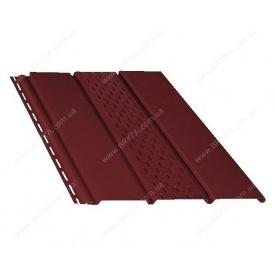 Софит BRYZA перфорированный 4000х305 мм красный/RAL 3011