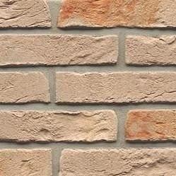 Клинкерный кирпич ручной формовки Muhr Klinker EM - WF 72 PO Creme grau orange 210x100x50 мм