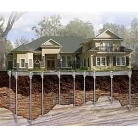 Будівництво фундаменту на гвинтових палях