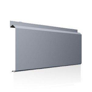 Фасадна лінійна система Ruukki Lamella CL10 1,5 мм (RAL9006/білий алюміній)