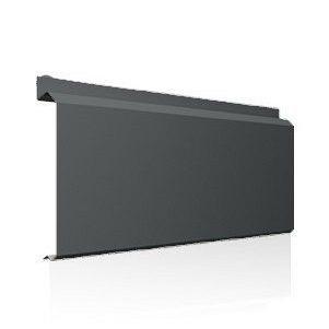 Фасадна лінійна система Ruukki Lamella CL10 1,5 мм (RAL9023/перламутровий темно-сірий)