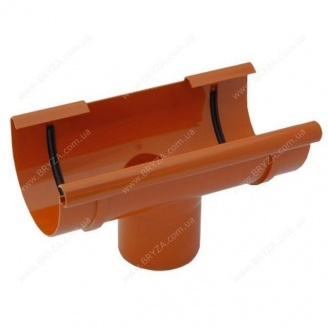 Воронка желоба Bryza 125 125х94х280х90 мм кирпичный