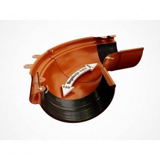 Внешний регулируемый угол 90-150° Galeco PVC130 130 мм (RE130-LZREG-P) (RAL8004/медно-коричневый)