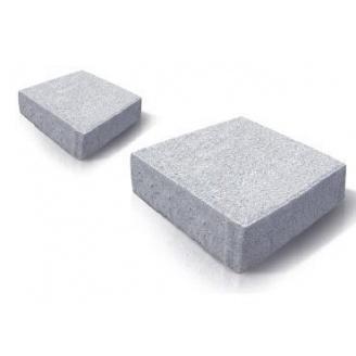 Тротуарная плитка Золотой Мандарин Квадрат малый на белом цементе 100х100х60 мм (белый)