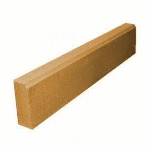 Поребрик Золотой Мандарин на сером цементе 1000х200х60 мм (персиковый)