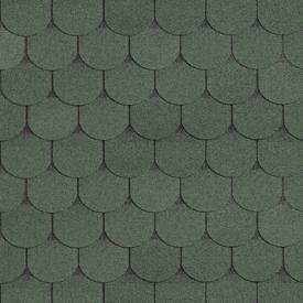 Бітумна черепиця Shinglas Класик Танго 3х333х1000 мм зелений