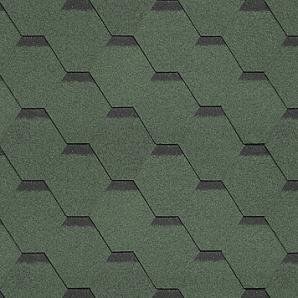 Бітумна черепиця Shinglas Класик Кадриль 3х317х1000 мм зелений