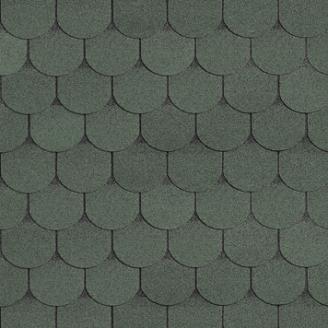 Битумная черепица Shinglas Классик Танго 3х333х1000 мм зеленый