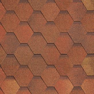 Битумная черепица Shinglas Классик Кадриль 3х317х1000 мм красно-коричневый