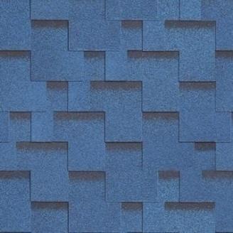 Битумная черепица Shinglas Ультра Джайв 3,3х317х1000 мм синий
