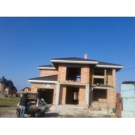 Строительство дома из блоков Поротерм