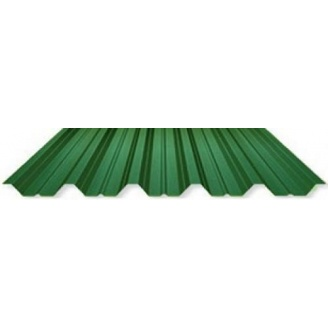 Профнастил несущий ПК 45j 970 мм зеленый