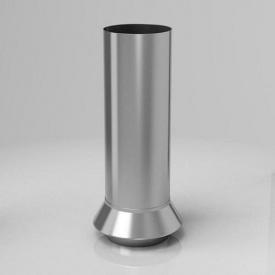 Дренажний з'єднувач RC Roofart Scandic Zinc 87 мм цинковий