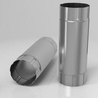 Проміжна труба PB Roofart Scandic Zinc 87 мм 1 м цинковий