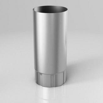 Водостічна труба BU Roofart Scandic Zinc 87 мм 3 м цинковий
