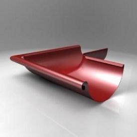 Зовнішній кут KE Roofart Scandic Prelaq 125 мм 90 градусів червоний RAL3011