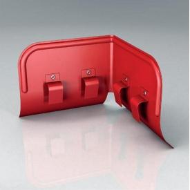 Переливозатримувач PP Roofart Scandic Prelaq 125/87 90 градусів червоний RAL3011