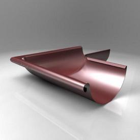 Зовнішній кут KE Roofart Scandic Prelaq 125 мм 90 градусів цегляний RAL3009