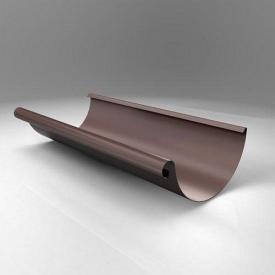 Жолоб напівкруглий JB Roofart Scandic Prelaq 125 мм 3 м коричневий RAL8017