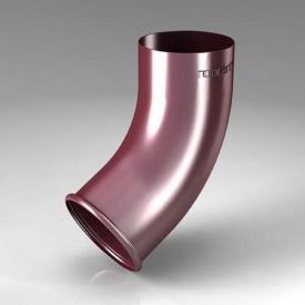 Зливне коліно CE Roofart Scandic Prelaq 87 мм 60 градусів вишневий RAL3005