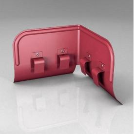 Переливозатримувач PP Roofart Scandic Prelaq 150/100 90 градусів вишневий RAL3005