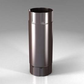 Промежуточная труба PB Roofart Scandic Prelaq 87 мм 1 м коричневый RAL8017