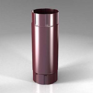Проміжна труба Roofart PB Scandic Prelaq 100 мм 1 м вишневий RAL3005