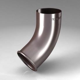 Зливне коліно CE Roofart Scandic Prelaq 87 мм 60 градусів коричневий RAL8017