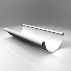 Жолоб напівкруглий JB Roofart Scandic Prelaq 125 мм 3 м білий RAL9010