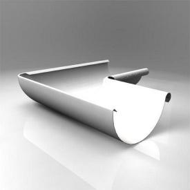 Внутрішній кут KI Roofart Scandic Prelaq 125 мм 90 градусів білий RAL9010