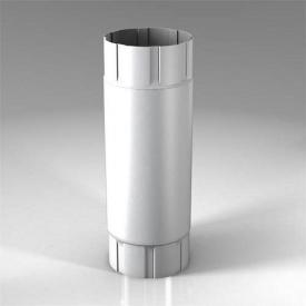Проміжна труба PB Roofart Scandic Prelaq 100 мм 1 м білий RAL9010
