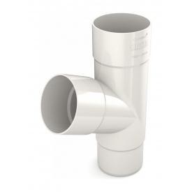 Трійник труби Bryza 125 245х90,2х90,2х84,5 мм білий