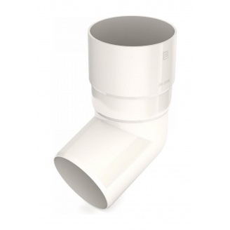 Коліно труби Bryza 125 67 градусів 90,2х145х84,5 мм білий