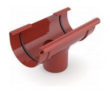 Воронка желоба сливная Bryza 125 280х90 мм красный