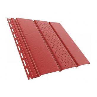 Софит BRYZA перфорированный 4000х305 мм красный