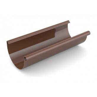 Желоб водосточный Bryza 75 мм 3 м коричневый
